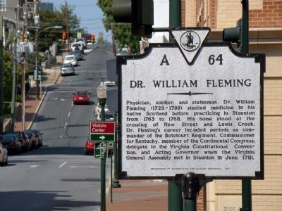 Dr. William Fleming Marker image. Click for full size.