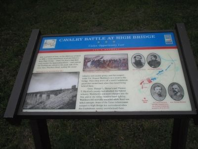 Cavalry Battle at High Bridge Marker image. Click for full size.