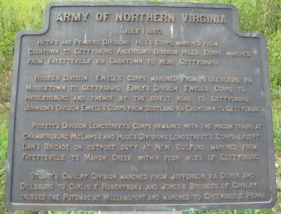 Army of Northern Virginia Tablet - July 1, 1863 image. Click for full size.