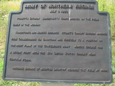 Army of Northern Virginia Tablet - July 3, 1863 image. Click for full size.