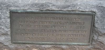 Close up of Lower Metal Plaque on Monument image. Click for full size.