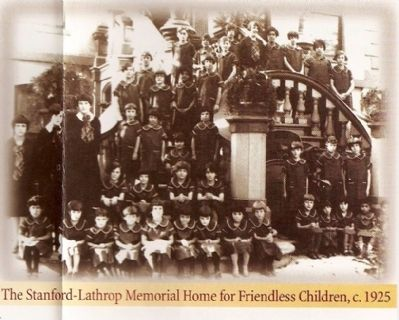 The Stanford-Lathrop Memorial Home for Friendless Children, C.1925 image. Click for full size.