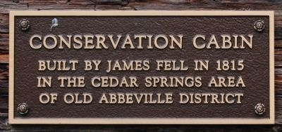 Conservation Cabin Marker image. Click for full size.