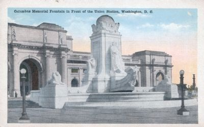 Columbus Memorial Fountain in Front of the Union Station, Washington, D. C. Photo, Click for full size