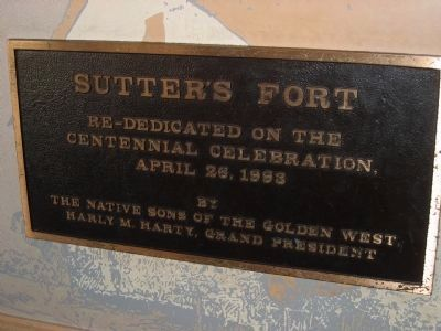 Sutter's Fort Marker image. Click for full size.