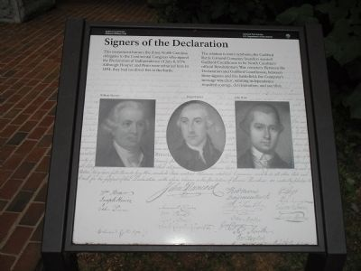 Signers of the Declaration Marker image. Click for full size.