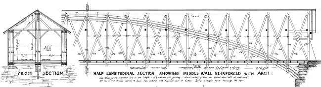 Old Blenheim Bridge Drawing Detail image. Click for full size.