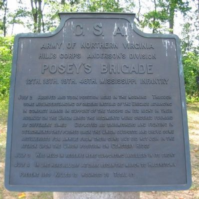 Posey's Brigade Tablet image. Click for full size.