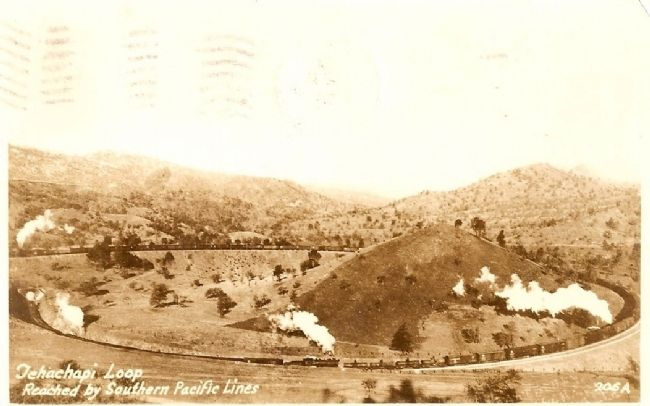 Vintage Postcard - Tehachapi Loop Photo, Click for full size