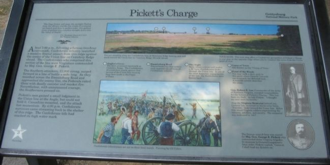 Pickett's Charge Marker Photo, Click for full size