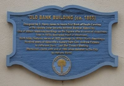 Old Bank Buildng (ca. 1865) Marker image. Click for full size.