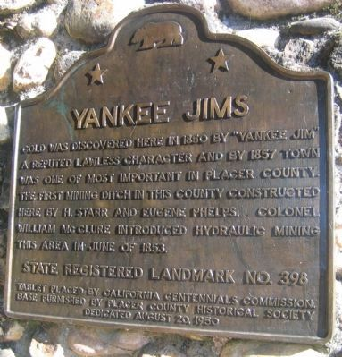 Yankee Jim's Marker Photo, Click for full size