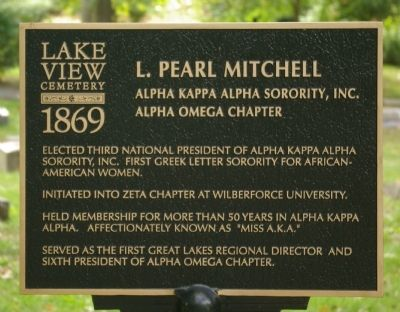 L. Pearl Mitchell Marker image. Click for full size.