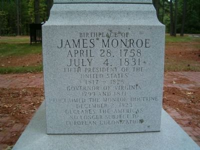 Birthplace of James Monroe Marker Photo, Click for full size