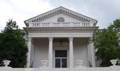 Laurens County Court House -<br>North (Rear) Entrance Detail Photo, Click for full size