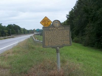 Jencks Bridge Marker, looking south along US 80 image. Click for full size.