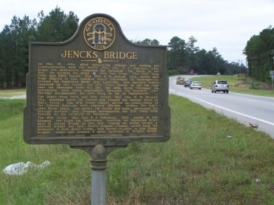 Jencks Bridge Marker, looking north image. Click for full size.