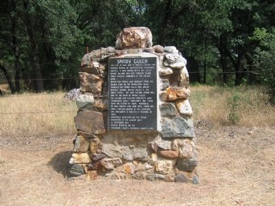 Sandy Gulch Marker image. Click for full size.