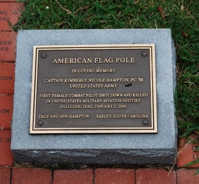 American Flag Pole Marker Photo, Click for full size