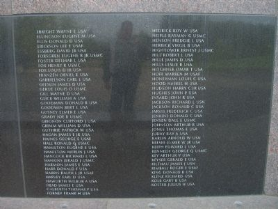Oregon Korean War Veterans Memorial Marker </b>- Panel 2 image. Click for full size.