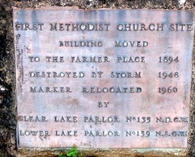 First Methodist Church Site Marker image. Click for full size.