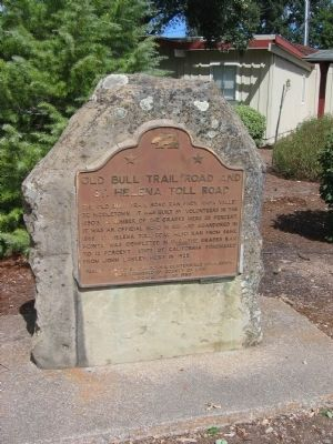 Old Bull Trail Road and St. Helena Toll Road Marker image. Click for full size.