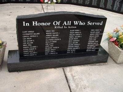 In Honor of All Who Served Marker Photo, Click for full size