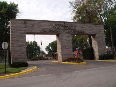 Entrance to McFerren Park Photo, Click for full size