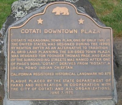Cotati Downtown Plaza Marker image. Click for full size.