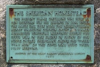 The Sheridan Homestead Marker image. Click for full size.