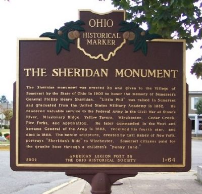 The Sheridan Monument Marker Photo, Click for full size