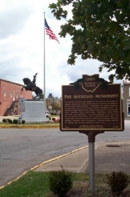 The Sheridan Monument and Marker image. Click for full size.