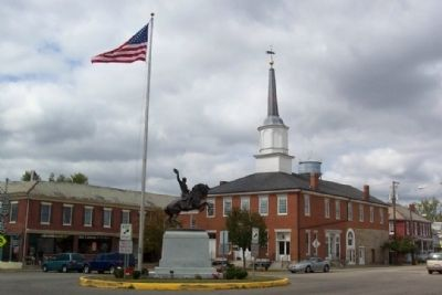 The Sheridan Monument in front of Perry County Courthouse image. Click for full size.