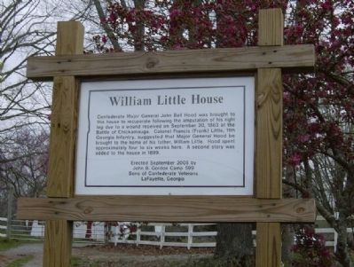 William Little House Marker image. Click for full size.