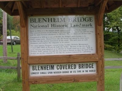 Blenheim Bridge - A National Historic Landmark image. Click for full size.