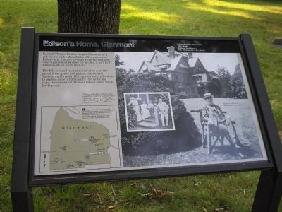 Edison�s Home, Glenmont Marker image. Click for full size.