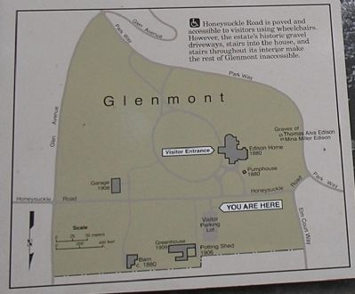 Map of Glenmont Area from Marker image. Click for full size.