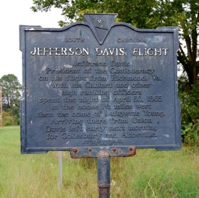 Jefferson Davis Flight Marker Photo, Click for full size