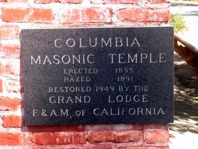 Columbia Masonic Temple Marker image. Click for full size.