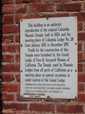 Second Marker on Side of Building image. Click for full size.