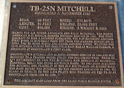 TB-25N Mitchell Marker Photo, Click for full size