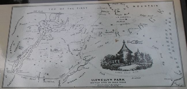 1857 Prospectus Map of Llewellyn Park image. Click for full size.