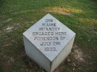 3rd Maine Infantry Marker image. Click for full size.