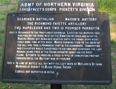 Dearing's Battalion - Macon's Battery Tablet image. Click for full size.
