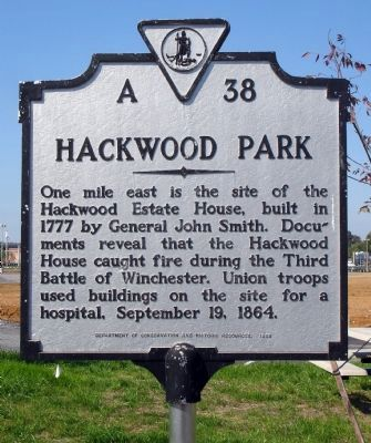 Hackwood Park Marker image. Click for full size.