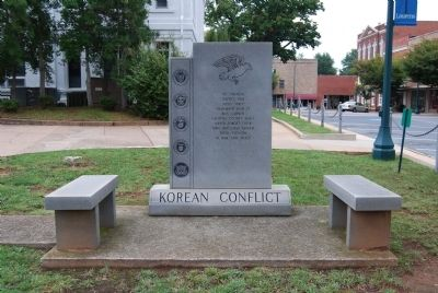 Korean Conflict Marker - Front image. Click for full size.
