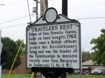 """Travelers' Rest"" Marker image. Click for full size."