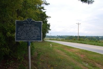 Rosemont Marker Facing North image. Click for full size.