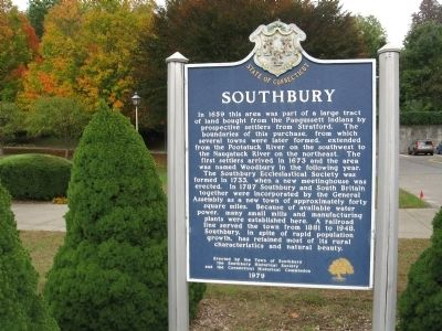 Southbury Marker image. Click for full size.