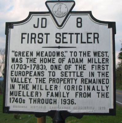 First Settler Marker Photo, Click for full size